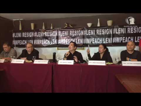 WATCH: Full press conference of Duterte supporters on 'Impeach Leni' movement