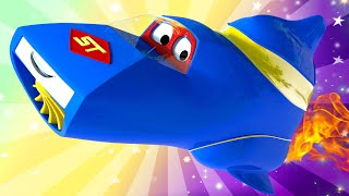 SUMMER - holidays in space ! Carl the Super Truck - Car City ! Trucks Cartoon for kids