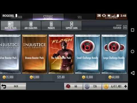 Injustice Mobile Buying Metahuman Flash Starter Pack