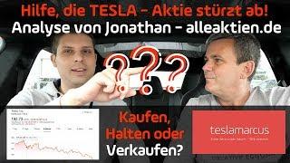 Die TESLA-Aktie stürzt ab! Kaufen, Halten oder Verkaufen? Analyse mit Jonathan alleaktien.de