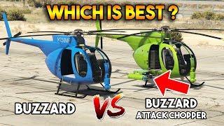 GTA 5 ONLINE : BUZZARD ATTACK CHOPPER VS BUZZARD (WHICH IS BEST?)