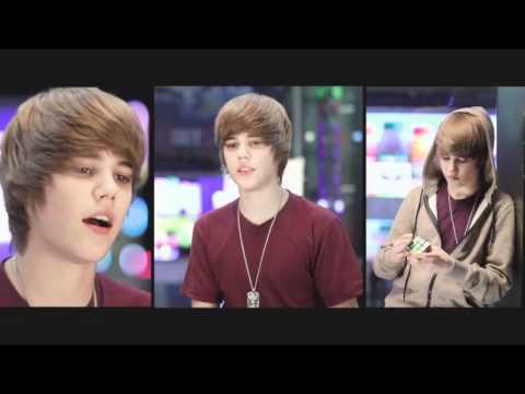 Justin Bieber 2009 - My World, MTV, Live, Rubiks Cube, Beats Box