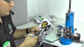 maquina para hacer pins // Como hacer Boton  publicitario redondo // make advertising  Button