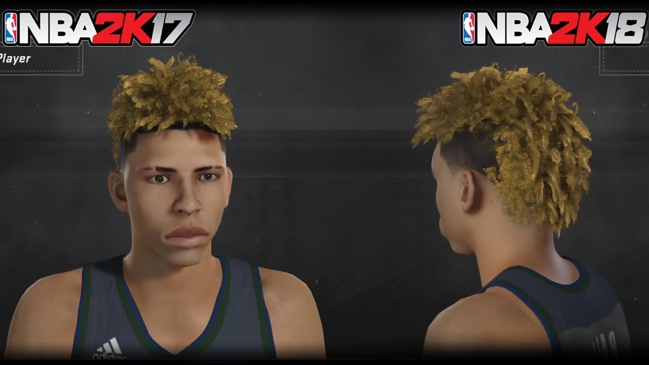 Nba 2k18 How To Create Lamelo Ball In Nba 2k18 How To Make The Lamelo Ball Hairstyle Odell