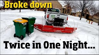 First the Sledge (loader) then the truck both broke down in the same night. 4 k video