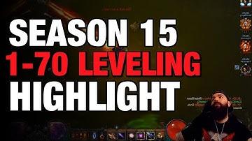 Diablo 3 - Leveling 1-70 Season 15 Twitch Highlight