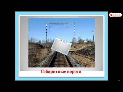 Видеоурок. Габариты на железнодорожном транспорте