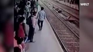 Indien: 19-Jährige wird von Zug überrollt - und überlebt