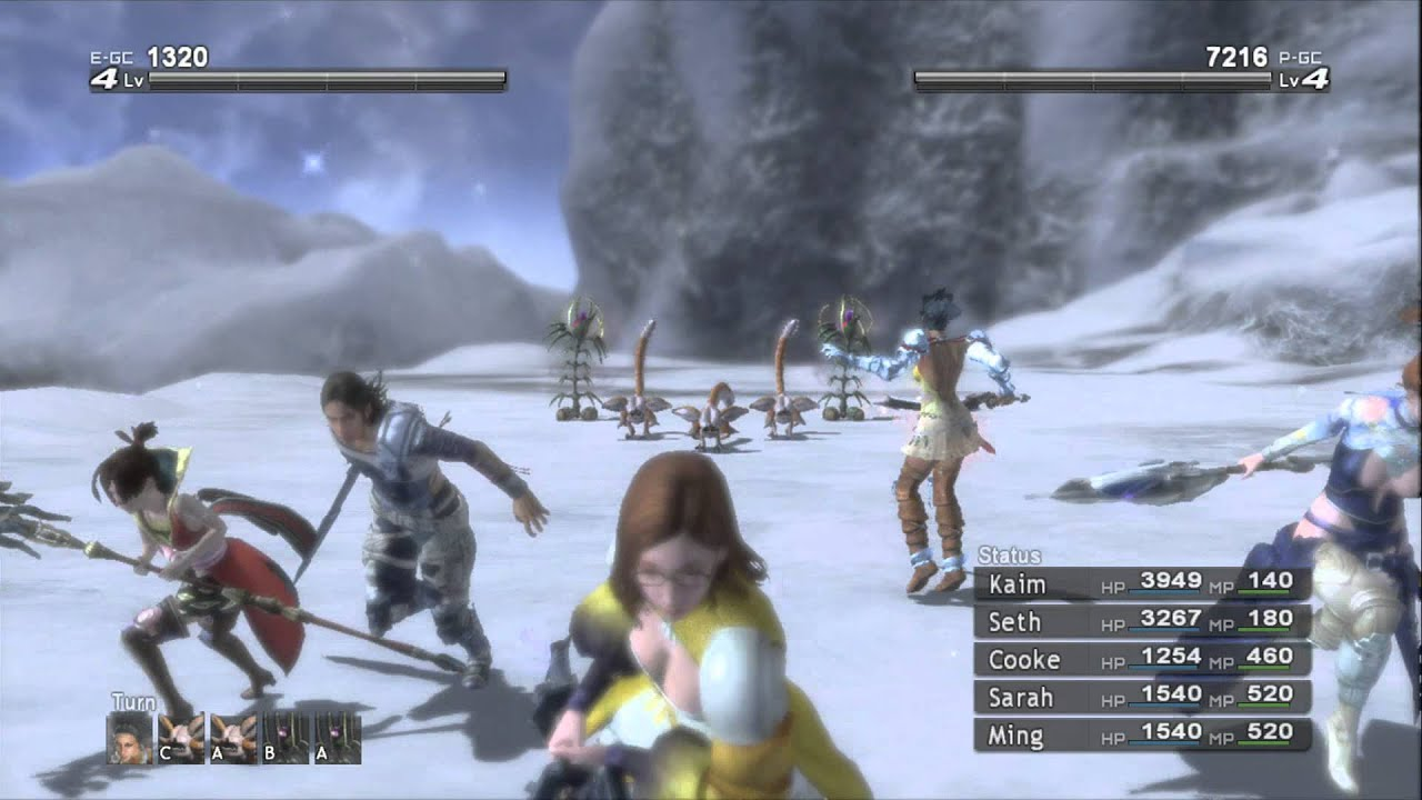 lets play lost odyssey part 41 ice canyon youtube