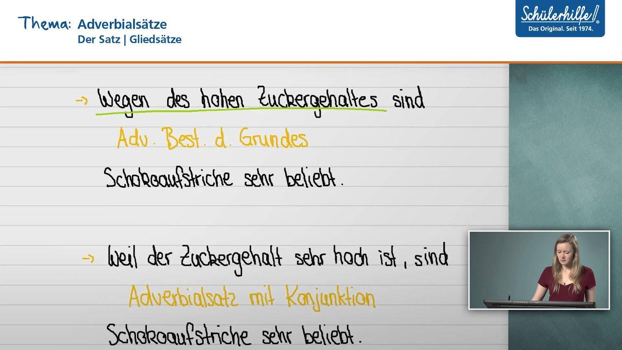 Was Sind Adverbialsatze Deutsch Klasse 7