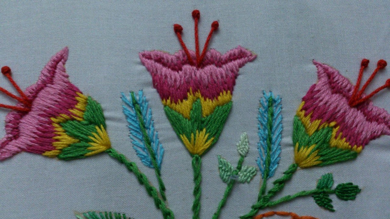 Hand embroidery stitches tutorial designs