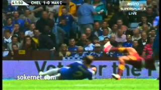 manchester city 3 2 chelsea community shield 2012 ivanovic red card