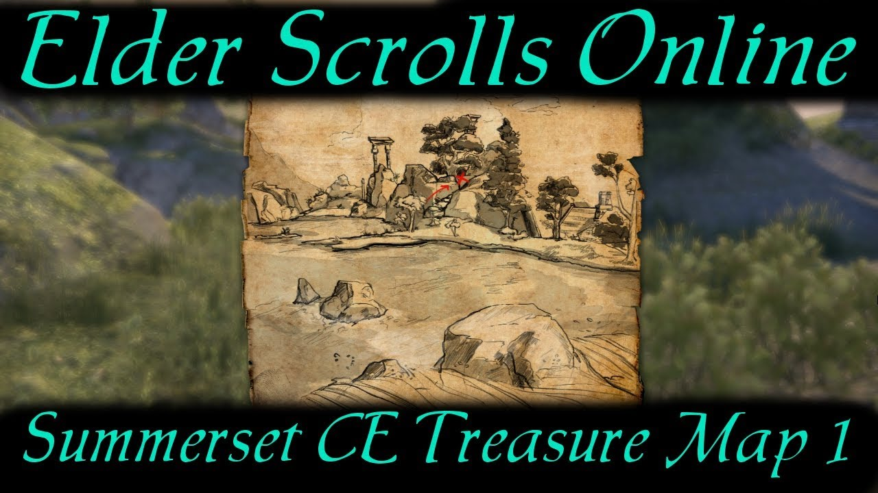 Summerset CE Treasure Map 1 [Elder Scrolls Online] ESO - YouTube