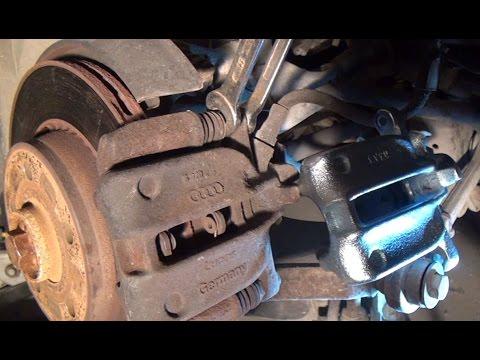 audi s8 a8 d2 rear brake caliper removal youtube. Black Bedroom Furniture Sets. Home Design Ideas