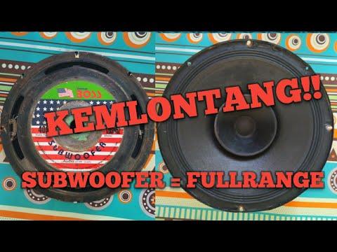 Rubah Speaker Subwoofer Jadi Fullrange Buat Midle An Youtube