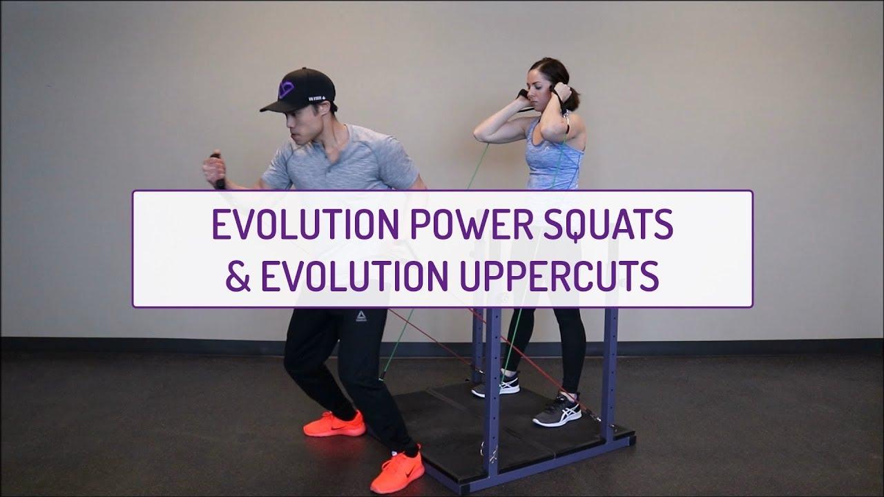 Partner Exercises | Evolution Power Squats and Evolution Uppercuts