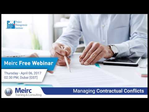 Managing Contractual Conflicts   Project Management   Dubai   Meirc