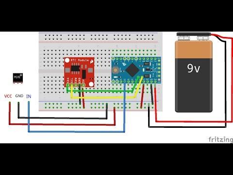 FLProg+Arduino - таймер для светильника