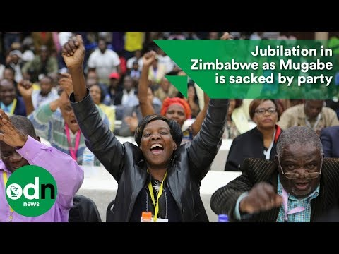 Jubilation in Zimbabwe as Mugabe is sacked by party