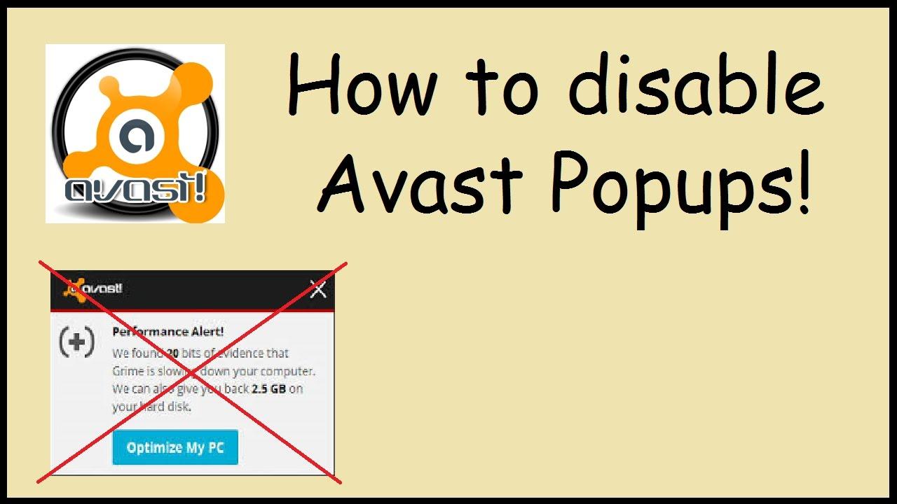 stop avast popups 2018