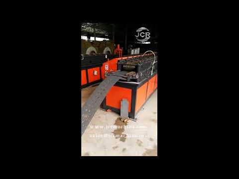 JCR Racking Upright Roll Forming Machine With Hydraulic On Line Punching