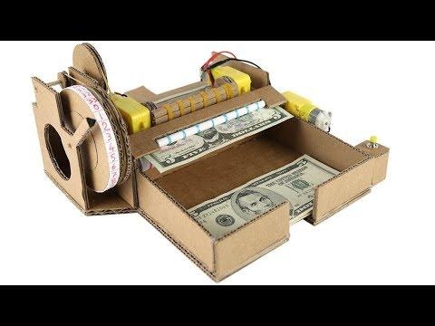 How To Make Money Counting Machine - Cardboard