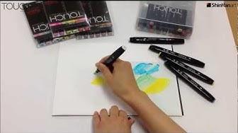 ShinHan Touch Twin Marker Pen - Colourless Blender Techniques - Part 1