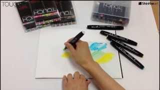 Shinhan Touch Twin Marker Pen Colourless Blender Techniques Part 1 Youtube