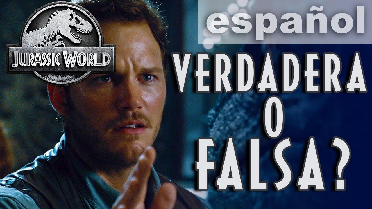 Prueba de película VERDADERA o FALSA | JURASSIC WORLD