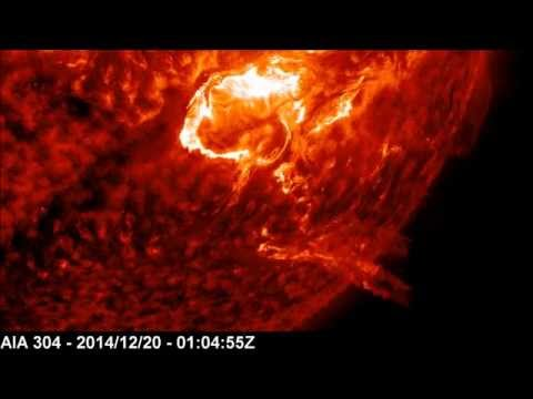 X1.8 Solar Flare - Lateral Propagation | December 20, 2014
