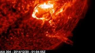 X1.8 Solar Flare - Lateral Propagation | December 20, 2014