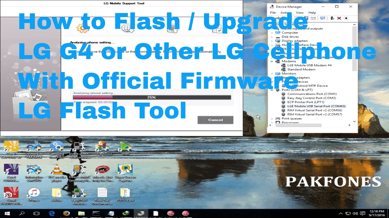 How To Upgrade LG G4 With Official Firmware - LG Flash Tool