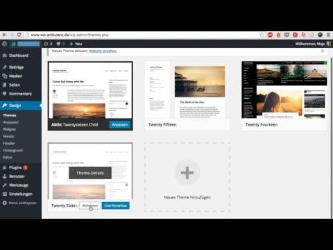 Child Theme erstellen für WordPress