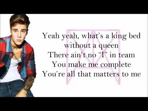 Justin Bieber - All That Matters (with Lyrics)