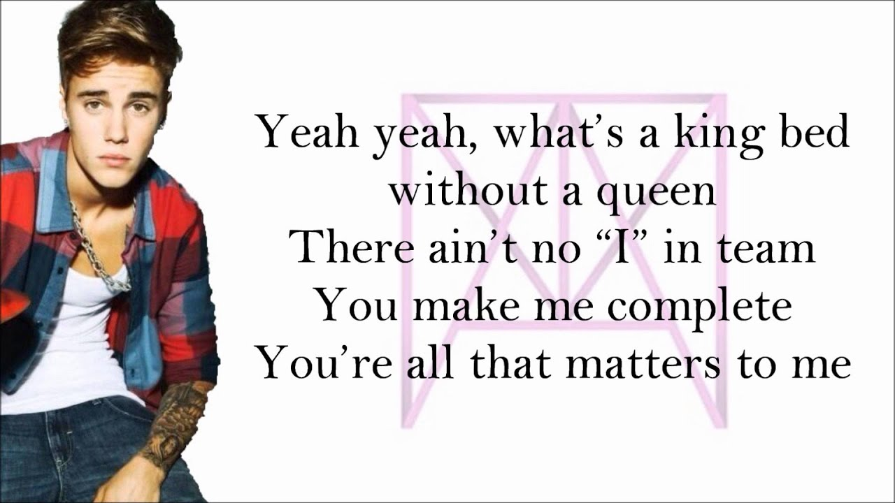 Justin Bieber All That Matters With Lyrics Youtube