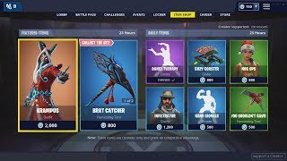 Peau KRAMPUS, BRAT CATCHER Axe - KRAMPU'S LITTLE HELPER Glider - 24 décembre Fortnite Shop
