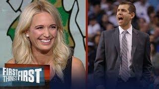 Sarah Kustok reveals why Boston's Brad Stevens is Danny Ainge's MVP on Celtics | FIRST THINGS FIRST