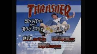 Thrasher skate and destroy ps1 intro