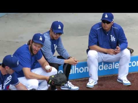 Kershaw Ryu McCarthy Dodgers Bullpen Bull Session Now 4-28-17