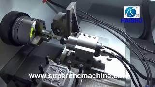 CNC lathe with live tools horizontal machining center