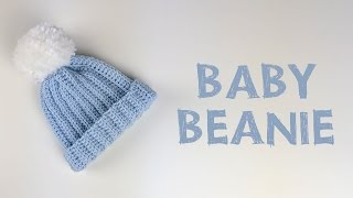 Very Easy Crochet Baby Beanie Tutorial   Croby Patterns