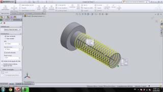 [SolidWorks] Tornillo con Cuerda/Rosca Estetica