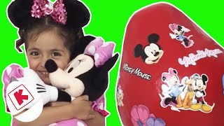 Minnie Mouse Opens GIANT Micky Surprise Egg - Princesses In Real Life | WildBrain Kiddyzuzaa