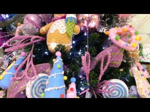 Decoracion de arboles de navidad 2016 dulces morado parte for Adornos para arbol de navidad 2016