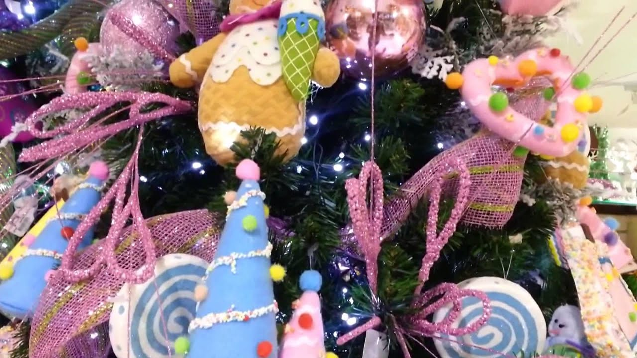 Decoracion de arboles de navidad 2017 dulces morado parte - Decoraciones del arbol de navidad ...