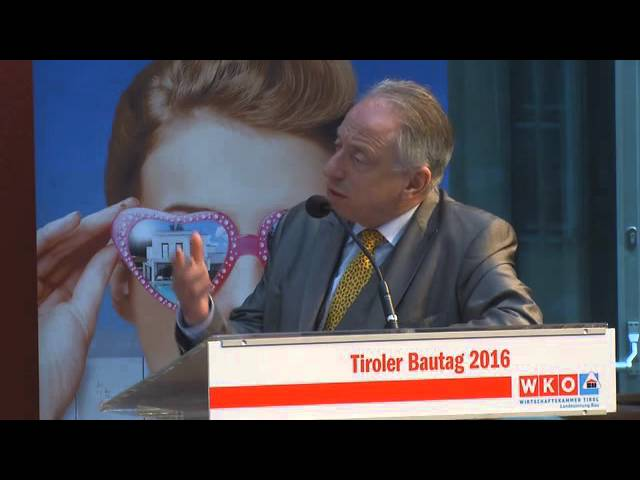 Tiroler Bautag 2016  - Wirtschaftskammer Tirol  - Podiumsdiskussion