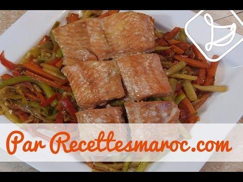 saumon-à-l'érable-&-légumes---maple-glazed-salmon-&-veggies-السلمون