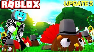 *NEW* epic TURKEY LAND Thanksgiving Fall Update (Codes) Roblox Blob Simulator