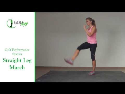 Golf Movement Preparation Exercise – Straight Leg March