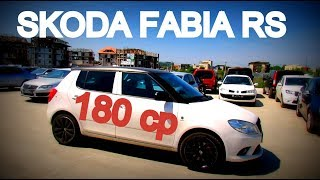 Skoda Fabia VRS second hand. Masina pe steroizi care se conduce absolut superb la Sab Auto Otopeni
